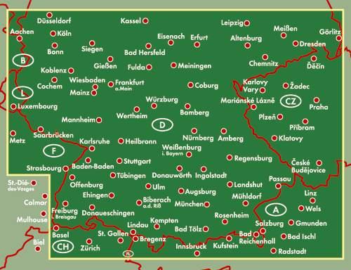Niemcy południowe. Mapa samochodowa 1:500 000. :: MAPY ... | 500 x 384 jpeg 38kB